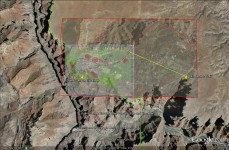 Grand Canyon Escalade is 420 Acres. Grand Village is 8,576 acres. The developed area of both are shown at the proposed location of Grand Canyon Escalade. Grand Canyon Village is 4 times larger than Escalade.