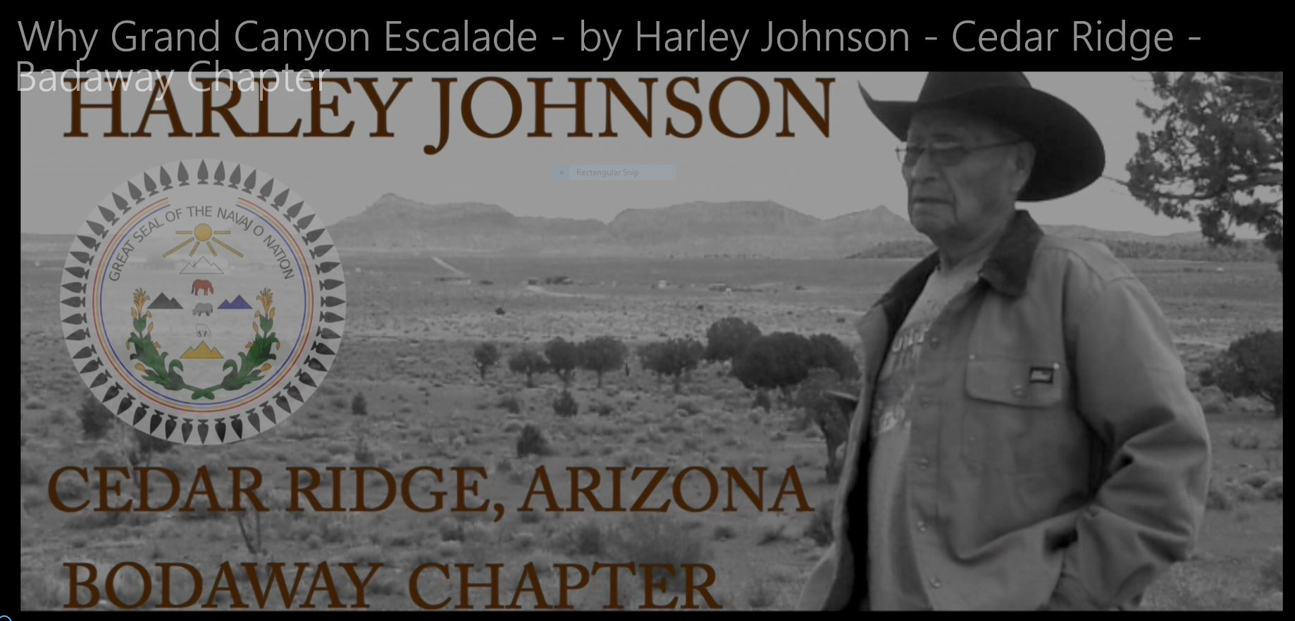 Why Grand Canyon Escalade? – a response by Harley Johnson, Cedar Ridge, AZ